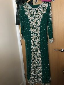 ASIAN long party/Wedding dress - Heavy Embroidery  - Brand new - show pieces