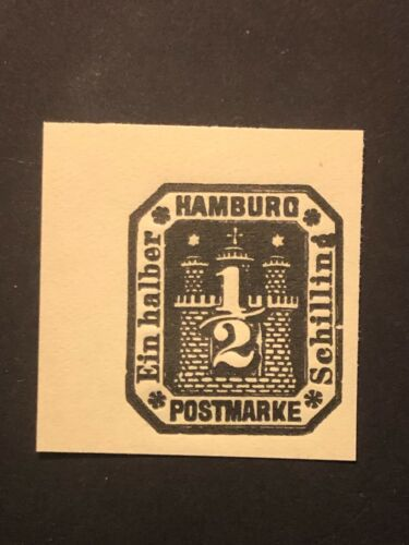 Germany 1864 Old State HAMBURG 1/2 Schilling stamp imperf. MNH /s1 #521