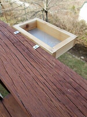Small Cedar Platform Bird Feeder for Deck or Window