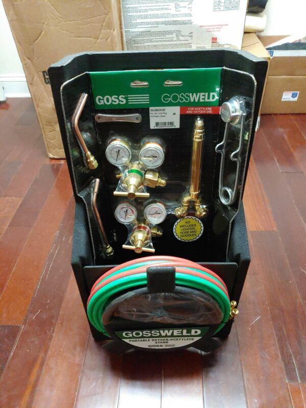 "Goss KA-525-M12P Welding/Brazing/Heating HVAC Kit with Stand for ""MC"" Acetylene"