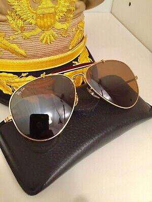 Vintage b&l Ray Ban Bravia Outdoorsman 62mm Aviator Sunglasses & Leather Case