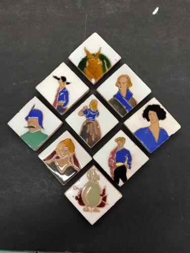 Set of 9 Tile - Antique Spanish
