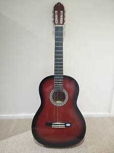 Valencia 4/4 Full Size Classical Guitar RED Woronora Heights Sutherland Area Preview