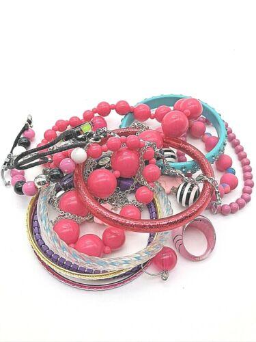 Girls Children Kids Dress up Costume Jewelry Lot Necklace Bracelet Earring Ring