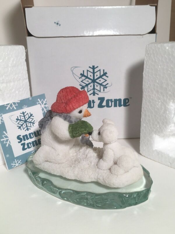 Snow Zone United Design Snowman With Snow Puppy 1998 SN-102