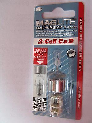 Maglite LMXA201 Magnum Star II Xenon 2 Cell C or D Mag Bulb   NEW