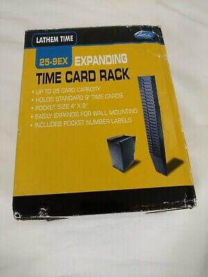 Lathem Time Expanding Time Card Rack Lathem 25-9ex Model Brand New