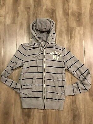 Pre-Owned Abercrombie & Fitch Long Sleeve Full Zip Hoodie Jacket Mens Size:Small