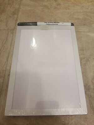 Mini Magnetic Dry Erase Board With Marker 5x7 White Foray Brand New