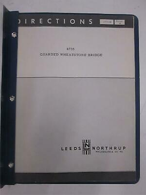 Leeds And Northrup Model 4735 Guarded Wheatstone Bridge Directions Used