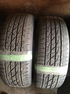 275 / 55 R20 pair of 2 with (75% & 65%) tread left
