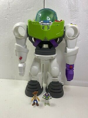 Imaginext Toy Story 4 Movie LARGE Buzz Lightyear Robot Playset Disney Pixar