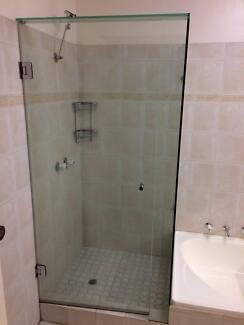 Bathroom glass shower door, dog bath and accessories for sale