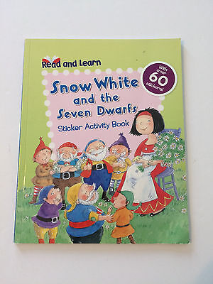 Snow White and the Seven Dwarfs Read and Learn Sticker Activity Book Rebus