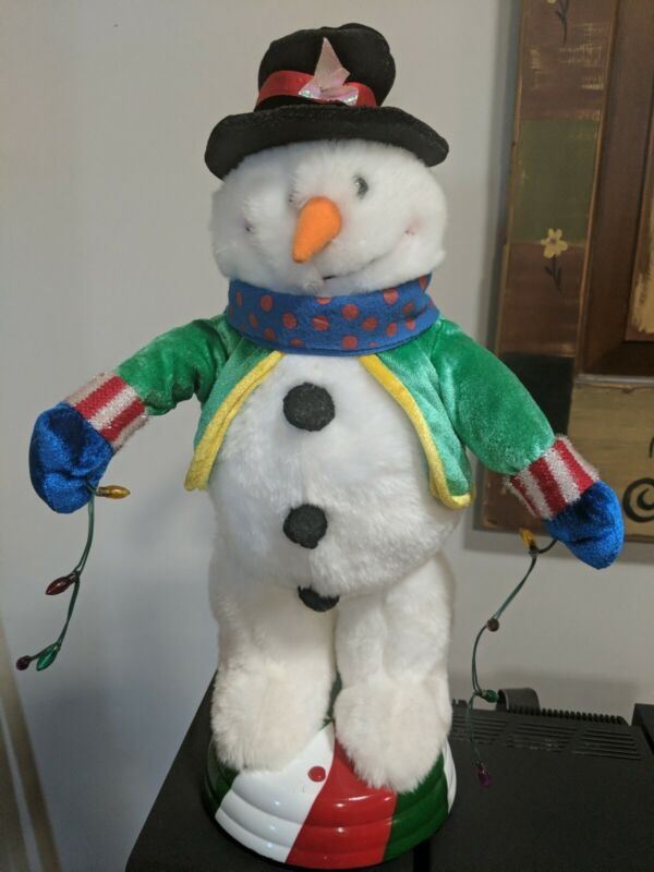 Gemmy animated snowman. Sings and dances to Play that Funky Music White Boy.