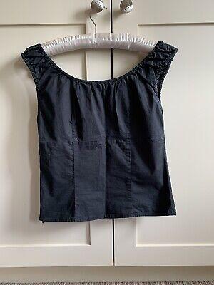 Joseph Black Cotton Top Medium Size S