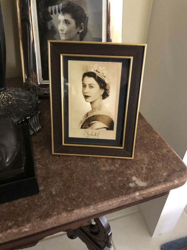 Queen Elizabeth II - Sepia Portrait in Frame