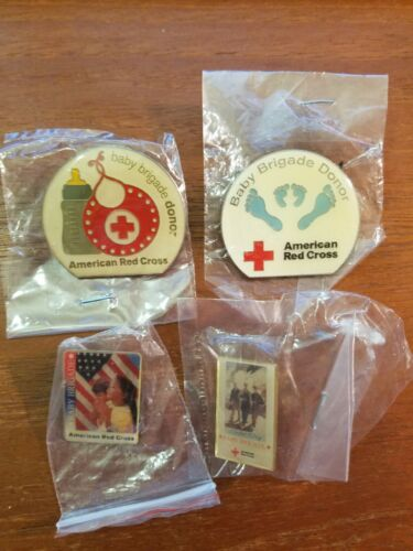 Lot of 4 Baby Brigade ARC American Red Cross Pins