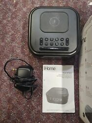 iHome iBTW23 Wireless Qi Charging Bluetooth Alarm Clock Speakerphone & USB Chg
