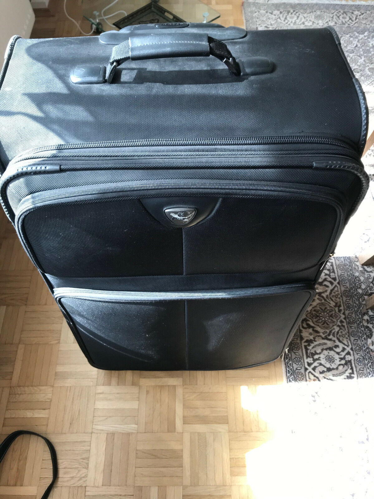 Eminent Reisekoffer schwarz groß mit 2 Rollen und Teleskopauszug nur Abholung