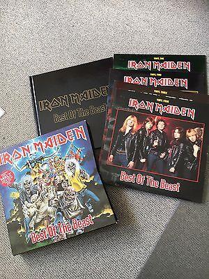 iron maiden best of the beast 4 LP Box + Buch Rarität