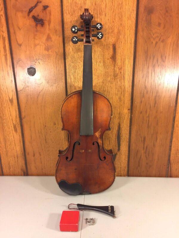 Antique E Martin Violin w/ Case 2 Piece Belly & Back Elegant Tuner Pegs