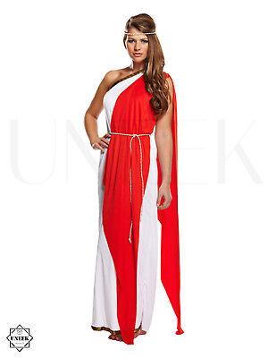 Ladies Greek / Roman Toga Fancy Dress Adult Goddess Halloween Costume Empress