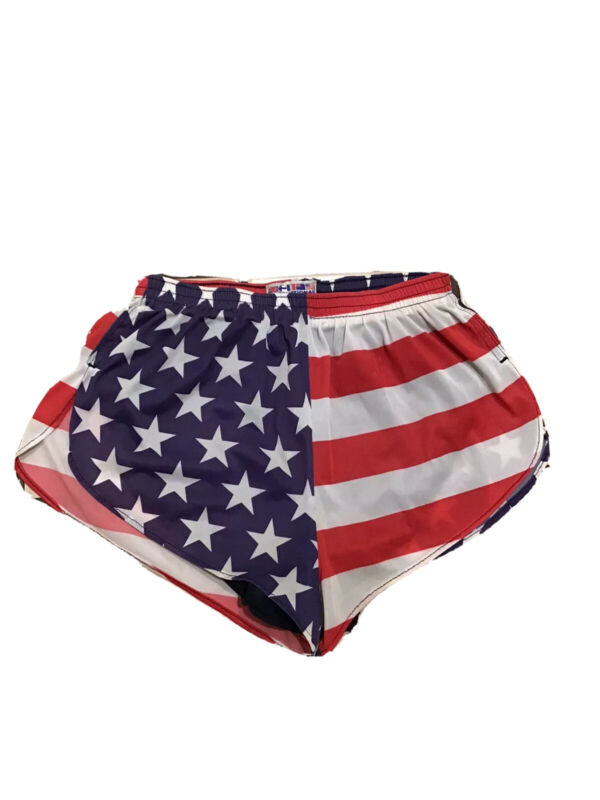 VTG 80s International Sports USA United States Flag Sprinter Retro Gym Shorts M