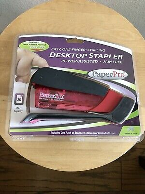 Paperpro - Desktop Stapler - 20 Sheet Capacity - Fluorescent Red - Item 1172