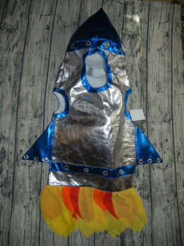 Pottery Barn Kids 3D Rocket costume astronaut spaceship Light up size 4-5-6  NEW