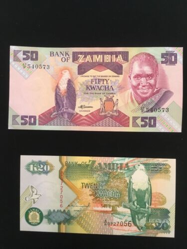 ZAMBIA Paper Money Lot  NEW CONDITION