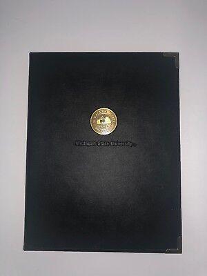 Michigan State Samsill Writing Padfolio Portfolio Spartans Msu Faux Leather Pad
