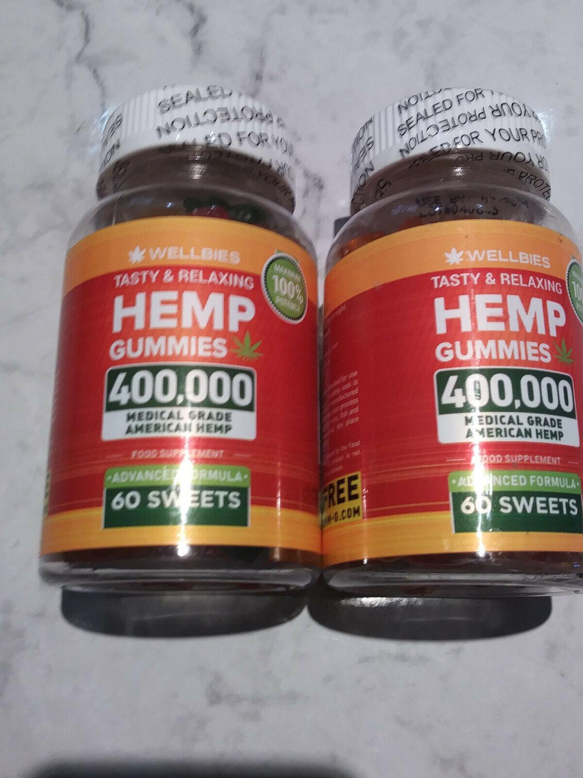 (2) - Wellbies Premium Hemp Gummies exp 7/21