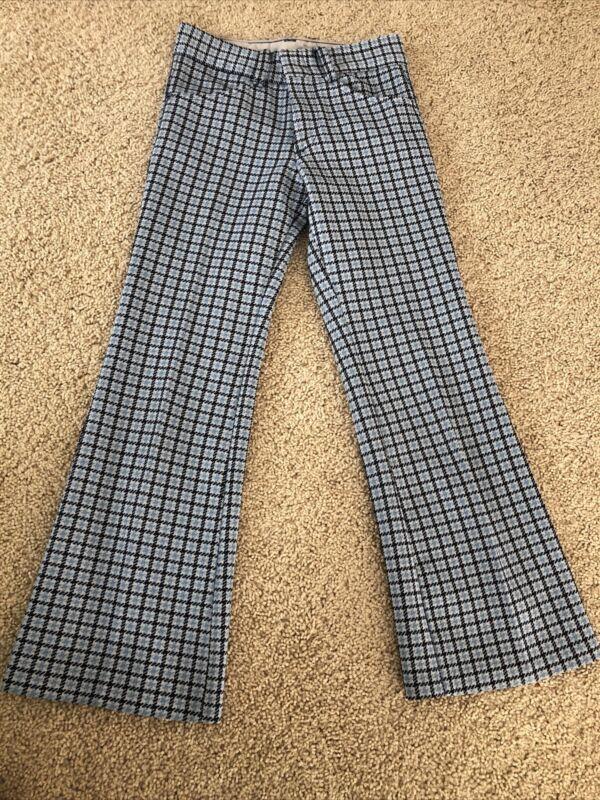 Vintage Boys Pants 10 Slim Sears Perma Prest Plaid 60s 70s Retro