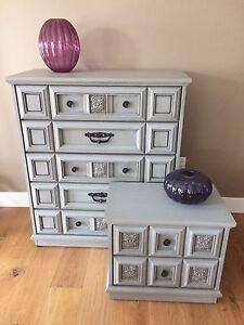 Shabby Chic Dresser & Nightstand