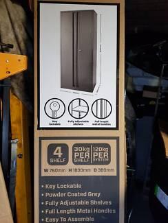 Brand New Dark Grey Metal Storage Cabinet