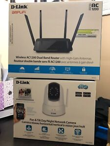 Dlink Wireless router and ip network cam