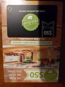 Hello fresh voucher,  value $50 East Gosford Gosford Area Preview