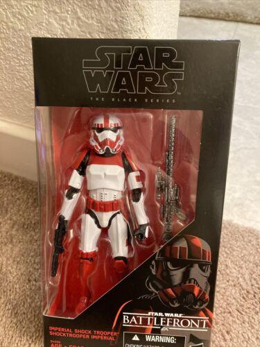 """Star Wars Noir 6/"""" pouces Walmart Battlefront Shock Trooper Loose complet"""