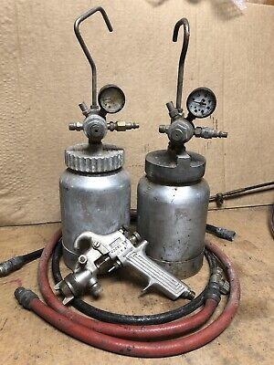 Binks Model 80 Astro Pneumatic Pressure Pot Container 69 Gun And Hoses 26