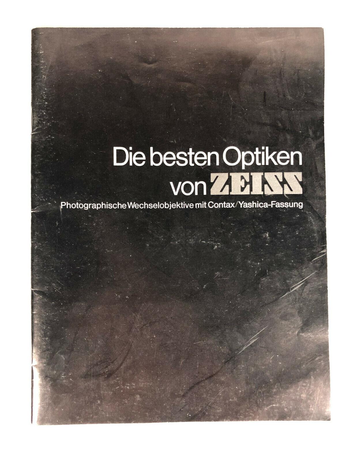 Die besten Optiken von Zeiss Prospekt Broschüre Deutsch