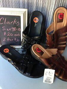 Clarks Sandals size 9 1/2 & 10
