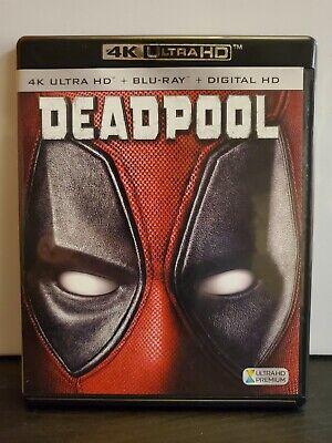 Deadpool (Blu-ray Disc, 2016, 2-Disc Set, 4K Ultra HD Blu-ray) Marvel