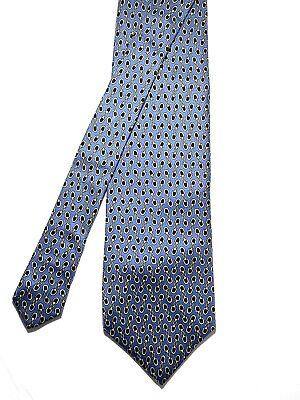 Vintage PAOLO GUCCI Silk Necktie Mens Equestrian Tie Blue Multi Made In Italy