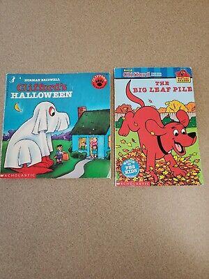 Clifford's Big Halloween (Lot X2 Clifford The Big Red Dog Books