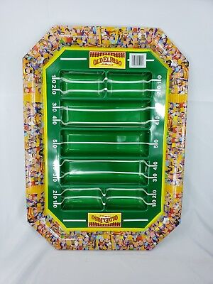 Old El Paso Nachos Chip Appetizer Serving Tray Football Tailgate SuperBowl - Football Serving Tray