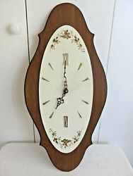 Vintage Harris & Mallow 1950's  1960's Wall Clock 23 x 11.25 Working Germany