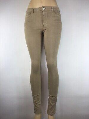 Zara Basic Z1975 Denim Women's Light Brown/ Beige Slim Fit  Stretch Jeans Size 6