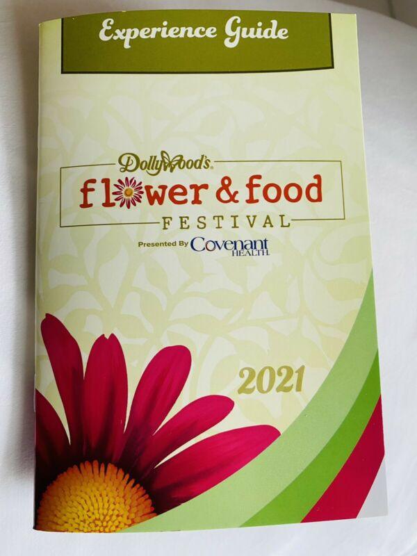 2021 Dolly Parton Dollywood Sticker Book Flower & Food Festival 30 Pages