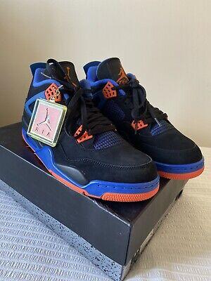 Nike Air Jordan 4 Retro Raptors UK Size 9.5 Black/Court Orange  Game Royal Noir